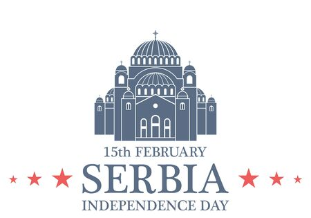 Independence Day. Serbia Illustration