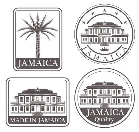 date palm: jamaica Illustration