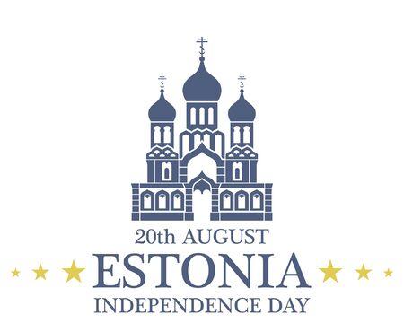 estonia: Independence Day. Estonia Illustration