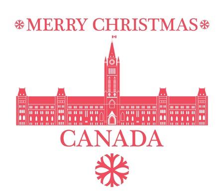 greeting: Greeting Card. Canada Illustration