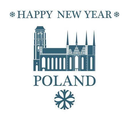 wroclaw: Greeting Card. Poland Illustration
