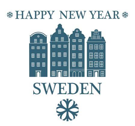greeting: Greeting Card. Sweden Illustration
