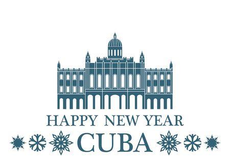 greeting: Greeting Card. Cuba Illustration