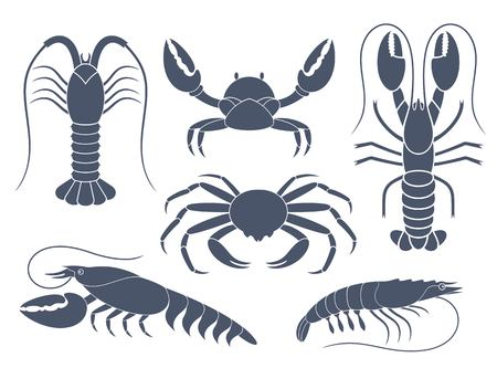 abstract food: crustaceans Illustration