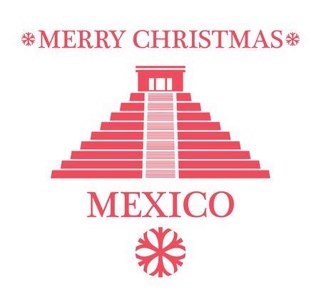 chichen itza: Greeting Card. Mexico
