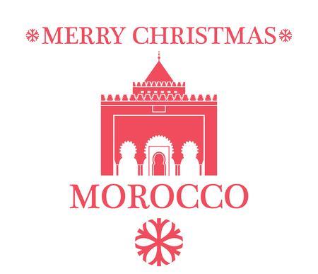 moroccan culture: Greeting Card. Morocco Illustration
