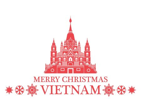 Merry Christmas Vietnam Illustration