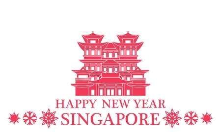 singapore culture: Happy New Year Singapore Illustration
