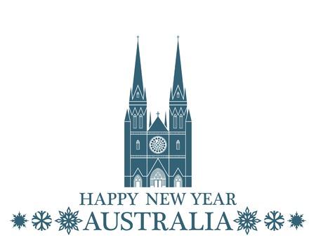 australian culture: Greeting Card Australia Illustration