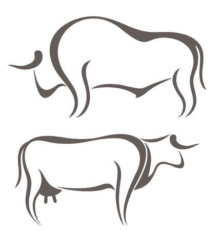 Bull. Cow. Farm Animal