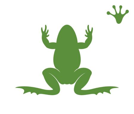 Frog silhouette. Abstract frog on white background