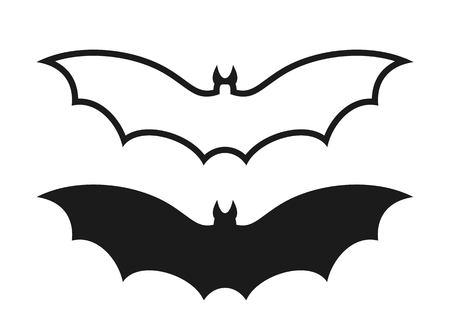 Fruit bat. Isolated bats on white background