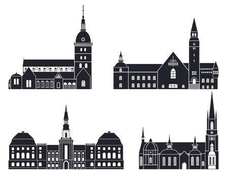 architectuur Stock Illustratie