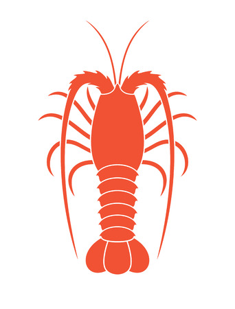 Spiny lobster. Stock Illustratie