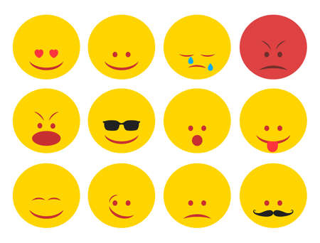 Smiley faces group. Smile icon