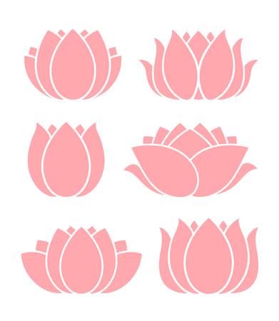Lotus flower. Logo. Isolated lotus on white background