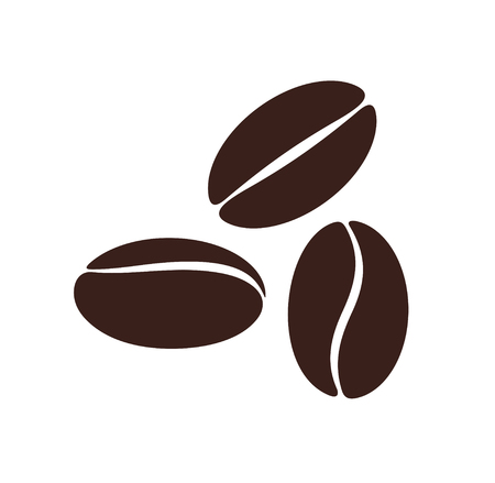 Coffee bean. Isolated coffe beans on white background