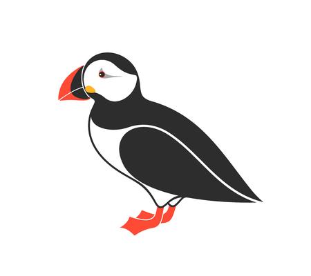 Atlantic puffin vector illustration Vectores