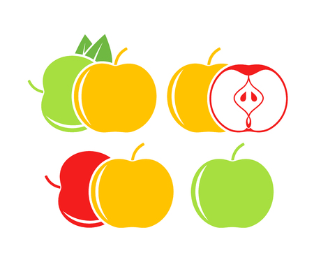 Apple icon. Isolated apple on white background