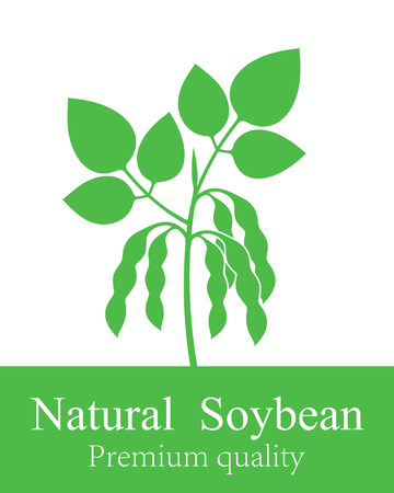 Soybean silhouette Isolated soybean on white background Иллюстрация