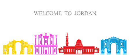 Jordan set. Isolated Jordan architecture on white background
