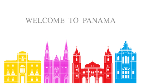 Panama set. Isolated Panama on white background Ilustrace