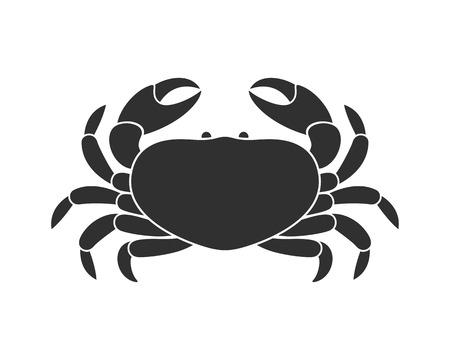 Crab icon. Isolated crab on white background Illustration