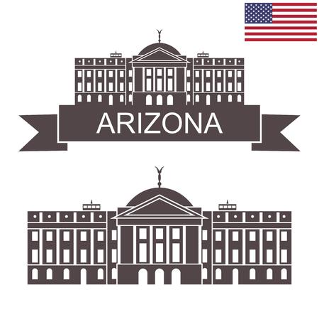 State of Arizona. Arizona State Capitol building Illustration