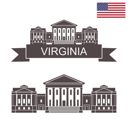 State of Virginia. Virginia State Capitol in Richmond. Stock Illustratie