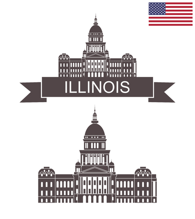 State of Illinois. Illinois State Capitol. Springfield Illustration