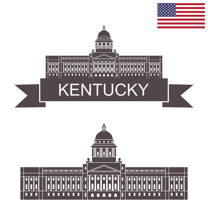 State of Kentucky. Capitol building in Frankfort, Kentucky