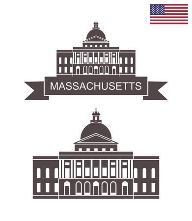 Commonwealth of Massachusetts. Massachusetts State House in Boston