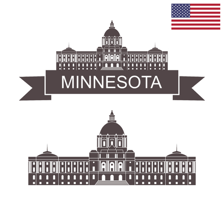 State of Minnesota. Minnesota State Capitol in St Paul Illustration