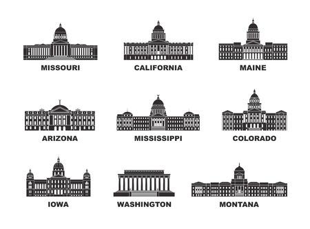 Die Vereinigten Staaten von Amerika. Vektorgrafik