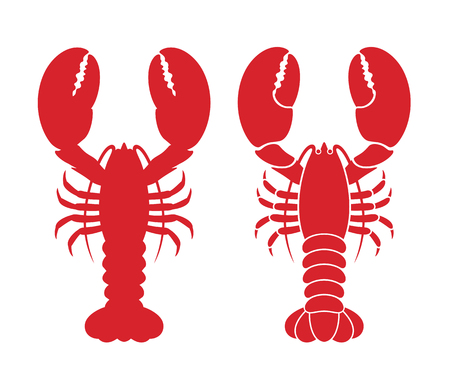 Logo homara. Homar na białym tle na białym tle