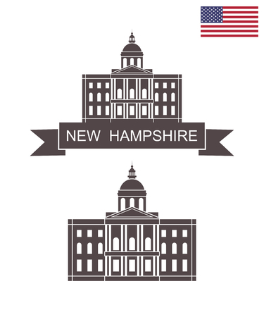 State of New Hampshire. New Hampshire State House Vector Illustratie