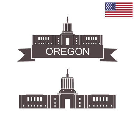 State of Oregon. State Capitol building in Salem Oregon