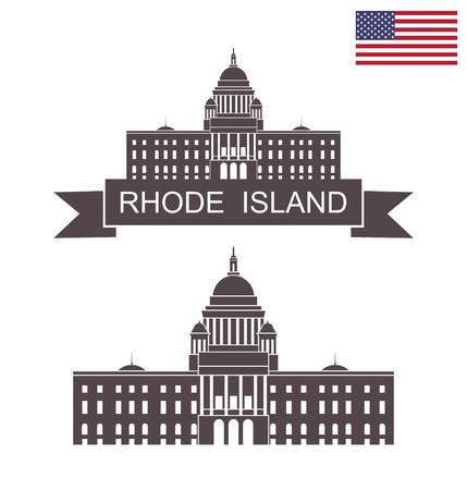 State of Rhode Island. Rhode Island State House Ilustração