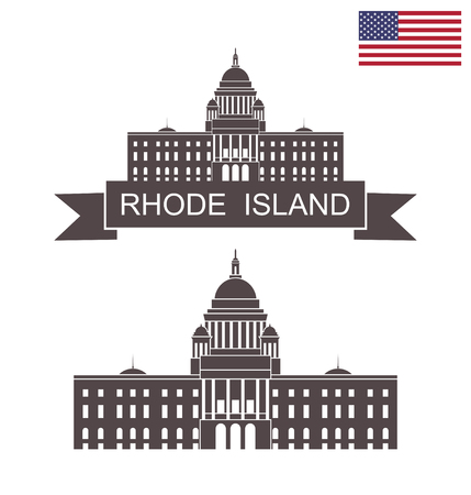 State of Rhode Island. Rhode Island State House Illustration