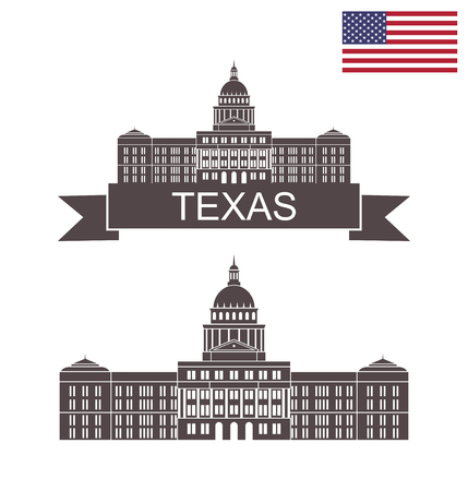 State of Texas. Texas State Capitol Building in Austin Illustration