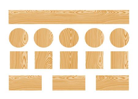 Wood texture. Isolated wood on white background Illustration