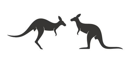 Kangaroo logo. Isolated kangaroo on white background Illustration
