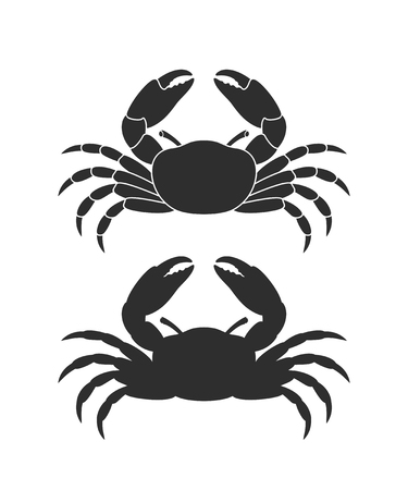 Crab logo. Isolated crab on white background. Silhouette Фото со стока - 108470617