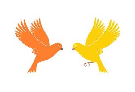 Logo des Canaries. Canari isolé sur fond blanc. Oiseau