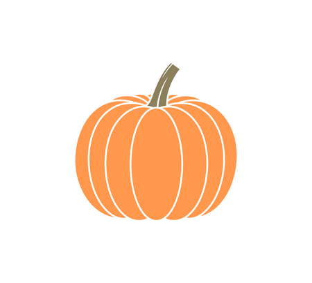 Pumpkin logo. Isolated pumpkin on white background