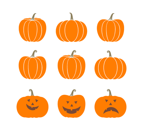 Pumpkin logo. Isolated pumpkin on white background