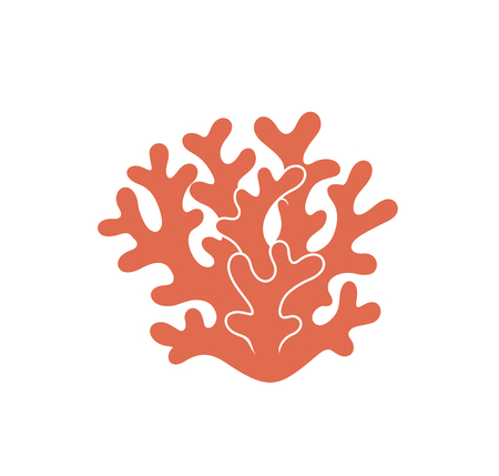 Coral logo. Isolated coral on white background 向量圖像