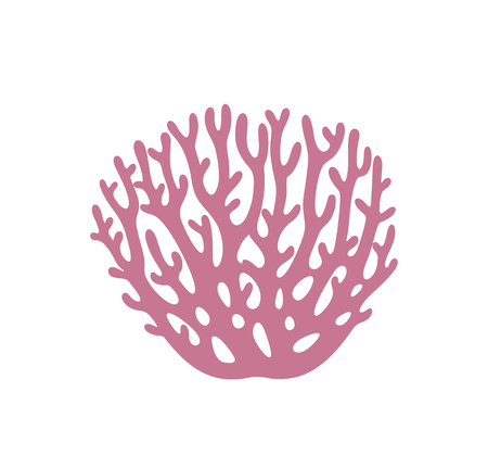 Coral logo. Isolated coral on white background Illustration