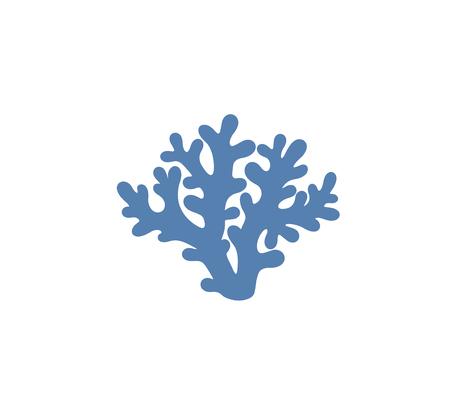 Coral logo. Isolated coral on white background. Set Ilustração