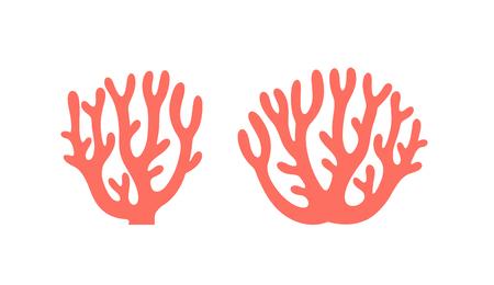 Coral logo. Isolated coral on white background Ilustração